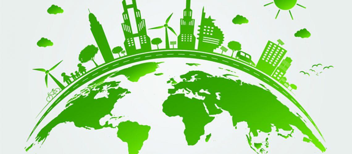 Groene energie over de wereld